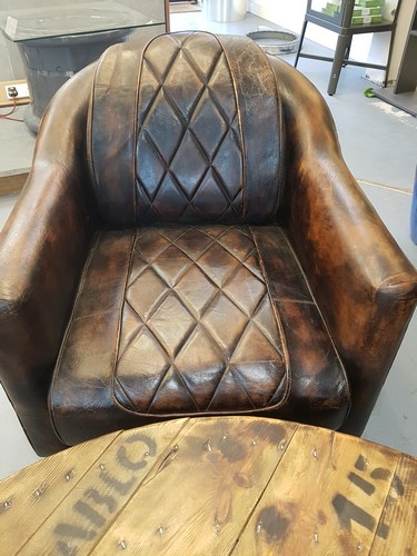 Union Jack Leather Aviator Chair From Gb Salvage