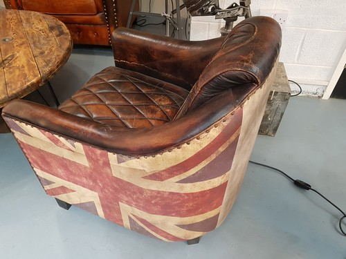 Union Jack Leather Aviator Chair From Gb Salvage We