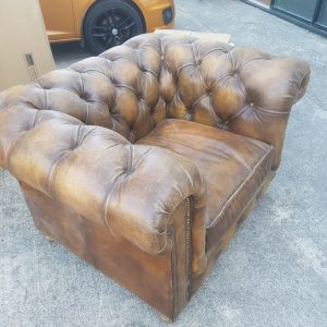 Stunning Leather Chesterfield