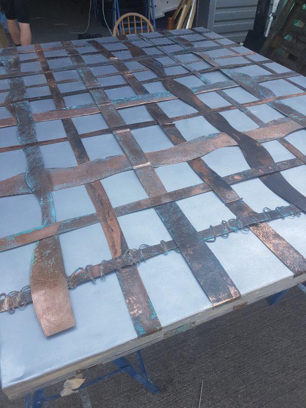 Copper Weave Door