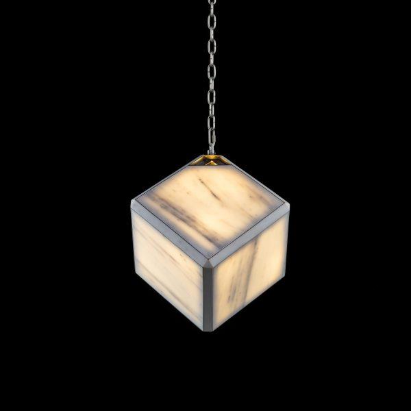 Alpha Pendant Light Marble Albus & Steel