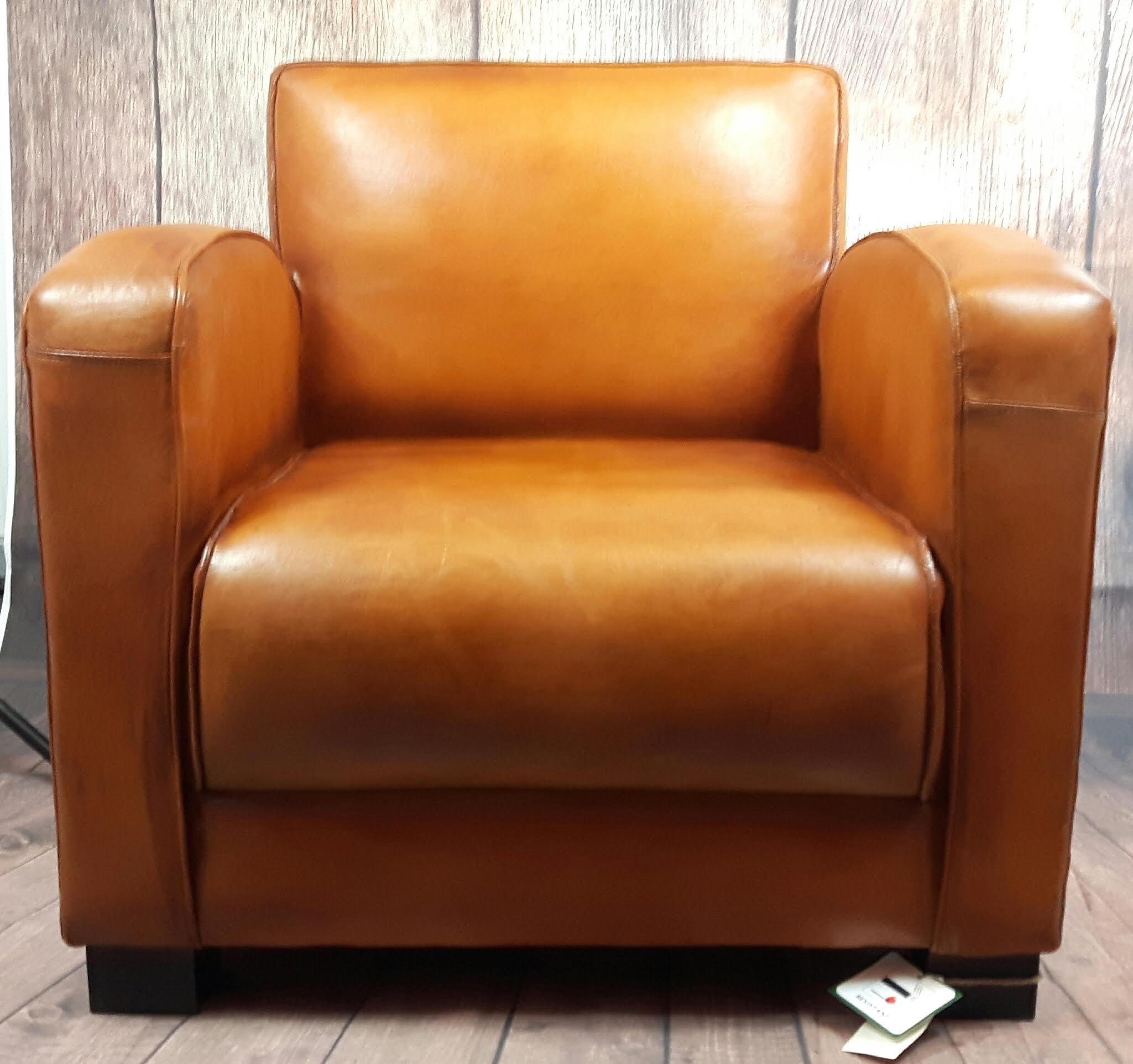 Tremendous Retro Leather Club Chair Dailytribune Chair Design For Home Dailytribuneorg