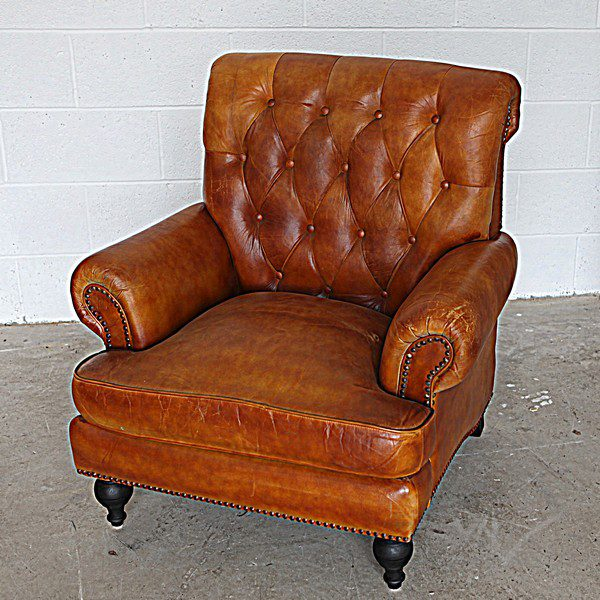 Highback Brown Leather Chair