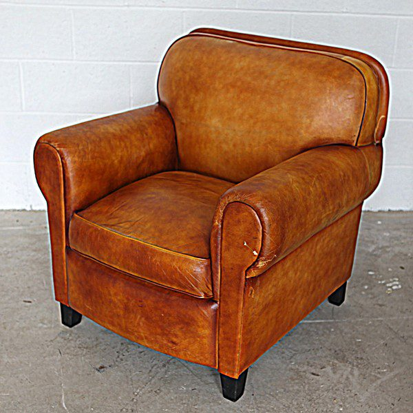 Tan Brown Leather Chair