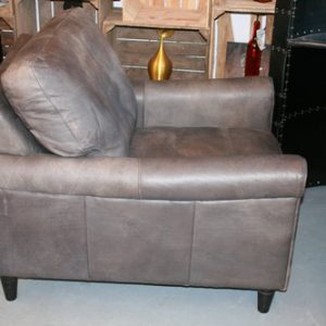 Major Sofa 1 Seater Destroyed Grey Leather