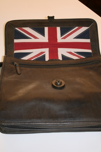 Grey Leather Timothy Oulton Briefcase