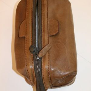 Timothy Oulton Washbag (Tan Brown Leather)