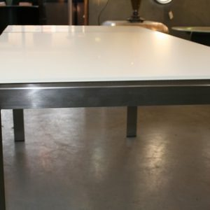 White Glass Dining Table (Large)
