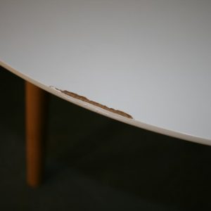 White Gloss Dining Table (Large) slight damage