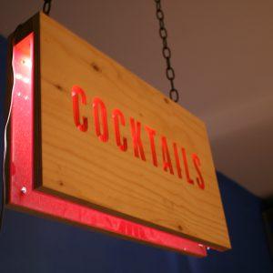 Cocktail Sign - Pink LED