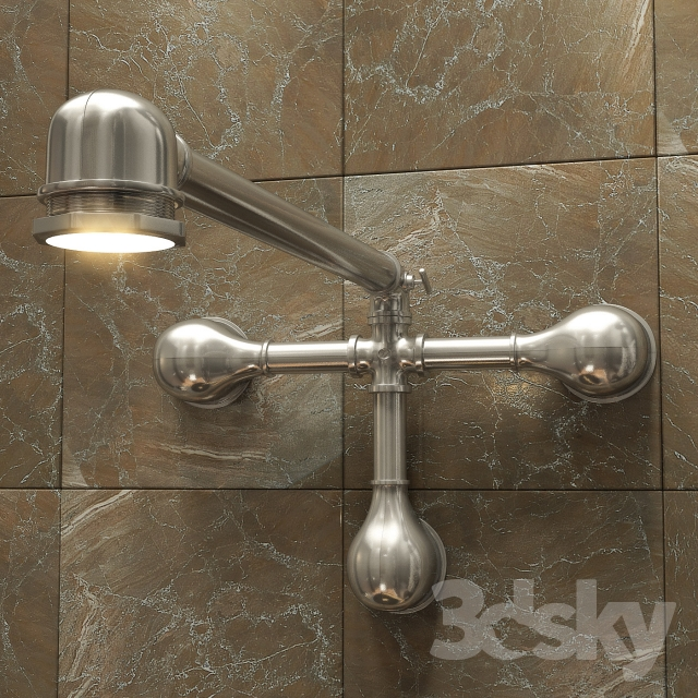Industrial Wall Light Chrome: Vintage Industrial Chrome' From