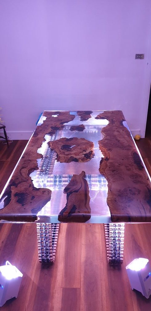Oak River Bed Table