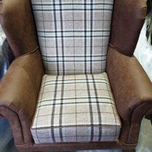 Tartan Wing Back Chair