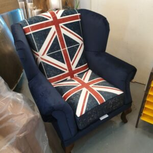 Union Jack Wingback Chair